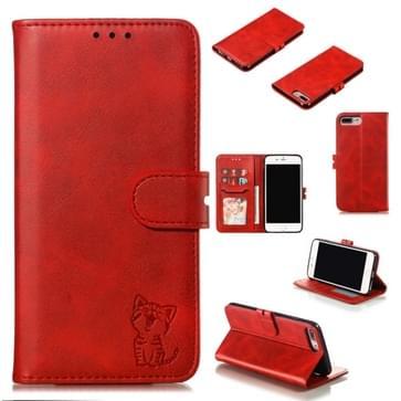 Lederen beschermhoes voor iPhone 8 plus & 7 Plus (rood)