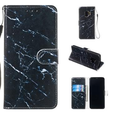 Lederen beschermhoes voor Galaxy S9 (zwart marmer)