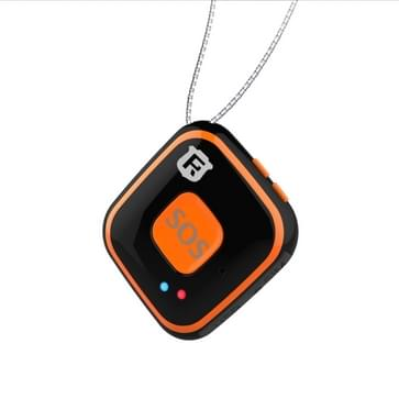 REACHFAR V28 ketting stijl GSM Mini LBS WiFi AGPS Tracker SOS Communicator(Black)