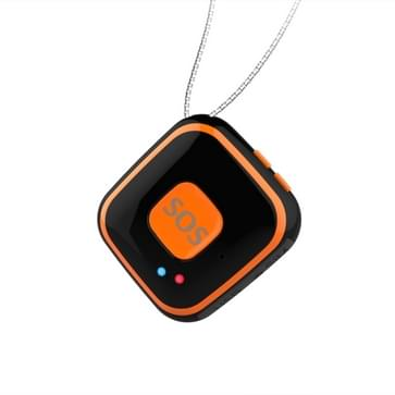 V28 Ketting stijl GSM Mini LBS WiFi AGPS Tracker SOS Communicator(Black)