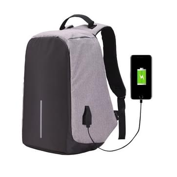 Multi-Function Large Capacity Travel Anti-theft Security Casual Backpack Laptop Computer Bag with External USB Charging Interface for Men / Women  Size: 42 x 29 x 14cm(Grey)