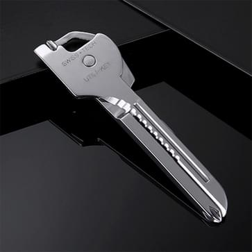 SWISS+TECH Stainless Steel 6 in 1 Multi-function Outdoor Key Chain  Foldable Mini Tools Key Ring