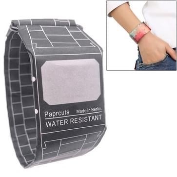 Retro Black Pattern Creative Fashion Waterproof Paper Watch Intelligent Paper Electronic Wristwatch