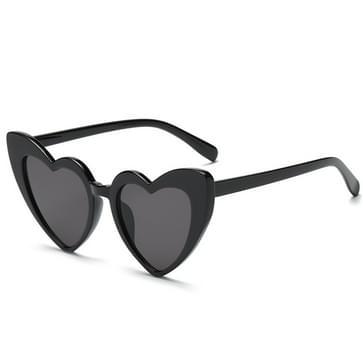 Hart vorm UV400 gepolariseerde zonnebril voor Women(Black)