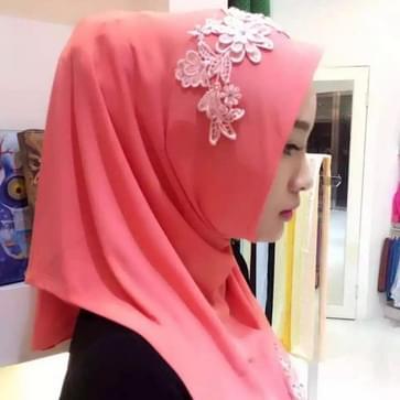 Mode Lace borduren bloemen linnen Pullovers vrouwelijke sjaal Hui nationaliteit volkse stijl Hijab moslim Scarf(Magenta)