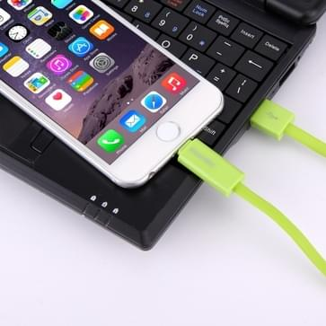 HAWEEL 2 in 1 Micro USB & 8 Pin naar USB Data Sync & laad kabel voor iPhone 6s & 6s Plus / iPhone 6 & 6 Plus / 5 & 5S, Samsung Galaxy S6 / S5, Kabel lengte: 1 meter (groen)