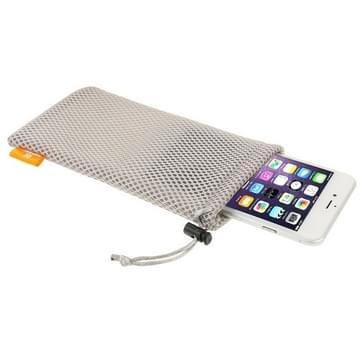 HAWEEL Nylon universele hoes met sluit koord voor iPhone 6 Plus & iPhone 6S Plus / 5.5 inch mobiele telefoon  Afmeting: 18.5cm x 9cm(grijs)