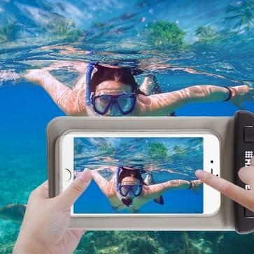 Transparante HAWEEL universeel Waterdicht tas met Lanyard voor iPhone 6 & 6 Plus / 6S & 6S Plus, Samsung Galaxy S6 / S5 / Note 5(zwart)