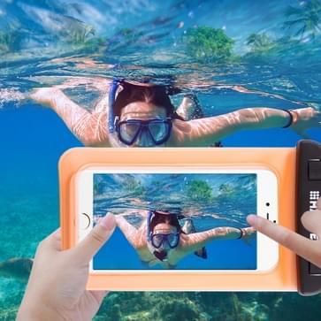Transparante HAWEEL universeel Waterdicht tas met Lanyard voor iPhone 6 & 6 Plus / 6S & 6S Plus, Samsung Galaxy S6 / S5 / Note 5(Oranje)