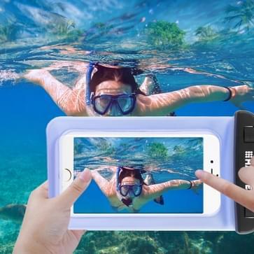 Transparante HAWEEL universeel Waterdicht tas met Lanyard voor iPhone 6 & 6 Plus / 6S & 6S Plus, Samsung Galaxy S6 / S5 / Note 5(blauw)