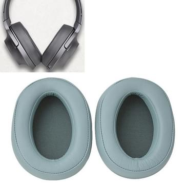 1 Pair Sponge Headphone Protective Case for Sony MDR-100ABN / WH-H900N (Mint Green)