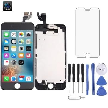 4 in 1 voor iPhone 6 (Front Camera + LCD + Frame + touchpad) Digitizer Assembly(Black)