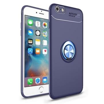 Metalen ringhouder 360 graden roterende TPU-hoes voor iPhone 6 Plus & 6s Plus (Blauw)