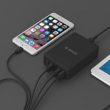 ORICO DCAP-6S-V1 6 poorten 5V / 2.4A Desktop USB oplader voor Smartphones, Tablets, Power banken EU stekker(zwart)