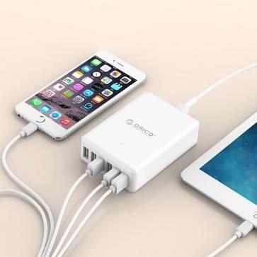 ORICO DCAP-6S-V1 6 poorten 5V / 2.4A Desktop USB oplader voor Smartphones, Tablets, Power banken EU stekkerwit
