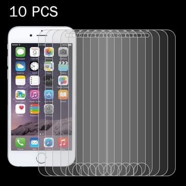 10 stuks voor iPhone 8 & iPhone 7 0,26 mm 9H oppervlakte hardheid 2.5D explosieveilige getemperd glas Non-full Screen Film