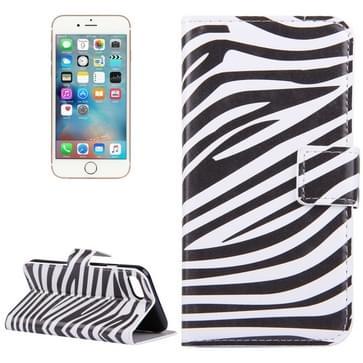 iPhone 7 & 8 horizontaal Zebra patroon PU leren Flip Hoesje met houder en opbergruimte voor pinpassen & geld