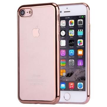 iPhone 7 Gegalvaniseerd beschermend TPU back cover Hoesje (roze goudkleurig)