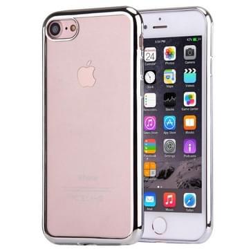 iPhone 7 Gegalvaniseerd beschermend TPU back cover Hoesje (zilverkleurig)