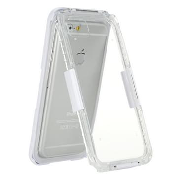 iPhone 7 schokbestendig IPX8 waterdicht en stofdicht Siliconen + TPU Hoesje met draagriem Wit