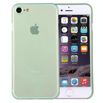 iPhone 7 ultra-dun transparant Polypropyleen back cover Hoesje (groen)