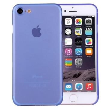 iPhone 7 ultra-dun transparant Polypropyleen back cover Hoesje (blauw)