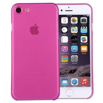 iPhone 7 ultra-dun transparant Polypropyleen back cover Hoesje (hard roze)