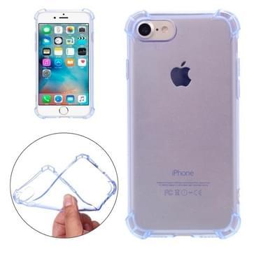 iPhone 7 transparant TPU back cover Hoesje met dikke beschermende rand (blauw)