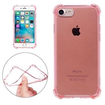 iPhone 7 transparant TPU back cover Hoesje met dikke beschermende rand (roze goudkleurig)