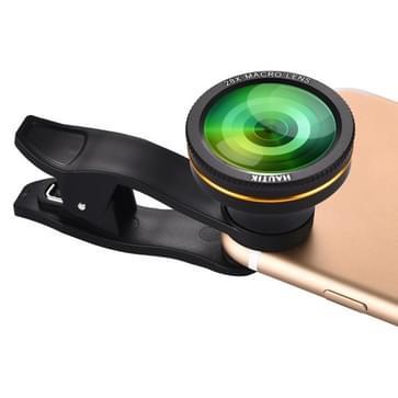 HAUTIK HK-003 28 X macrolens met Clip, voor iPhone, Galaxy, Sony, Lenovo, HTC, Huawei, Google, LG, Xiaomi, andere Smartphones en Ultra-thin Digitale Camera