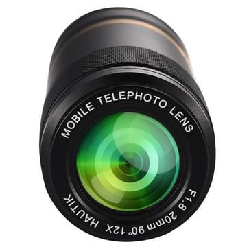Universele HAUTIK HK-005 12 X 20mm F1.8 telelens met Clip, voor iPhone, Galaxy, Sony, Lenovo, HTC, Huawei, Google, LG, Xiaomi, andere Smartphones en Ultra-thin Digitale Camera