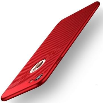 iPhone 7 & 8 schokbestendig Honingraat structuur Kunststof MOFI back cover Hoesje (rood)