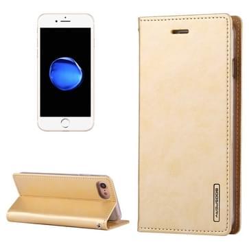 iPhone 7 & 8 horizontaal Crazy Horse structuur PU leren Mercury Goospery Blue Moon Flip Hoesje met houder en opbergruimte voor pinpassen & geld (goudkleurig)