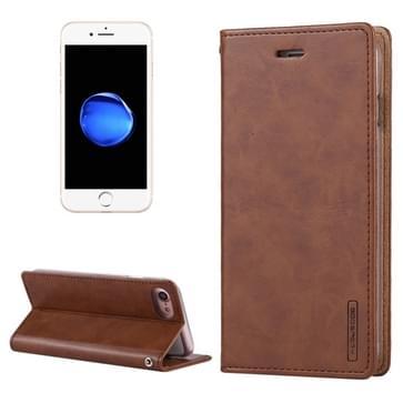 iPhone 7 & 8 horizontaal Crazy Horse structuur PU leren Mercury Goospery Blue Moon Flip Hoesje met houder en opbergruimte voor pinpassen & geld (bruin)