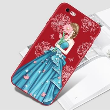 iPhone 7 & 8 met nep diamanten Baljurk patroon TPU back cover Hoesje (licht blauw)