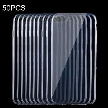 50 Stuks iPhone 7 Plus ultra-dun 0.75mm transparant TPU back cover Hoesje