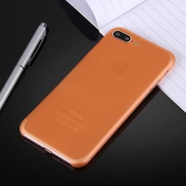 iPhone 7 Plus ultra-dun transparant Polypropyleen back cover Hoesje (Oranje)