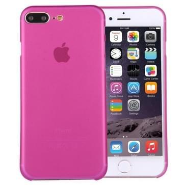 iPhone 7 Plus ultra-dun transparant Polypropyleen back cover Hoesje (hard roze)