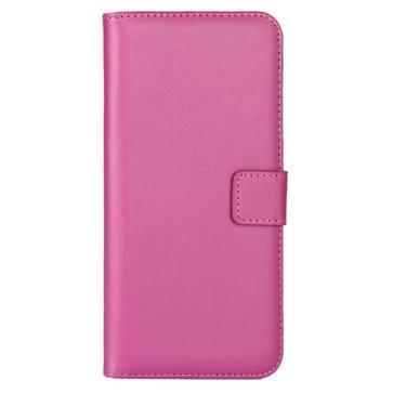 iPhone 7 Plus & 8 Plus horizontaal stijlvol PU leren Flip Hoesje met houder en opbergruimte voor pinpassen & geld (hard roze)