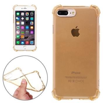 iPhone 7 Plus schokbestendig transparant TPU back cover Hoesje (goudkleurig)