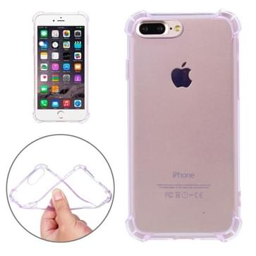 iPhone 7 Plus schokbestendig transparant TPU back cover Hoesje (paars)