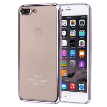 iPhone 7 Plus gegalvaniseerd transparant TPU back cover Hoesje (grijs)