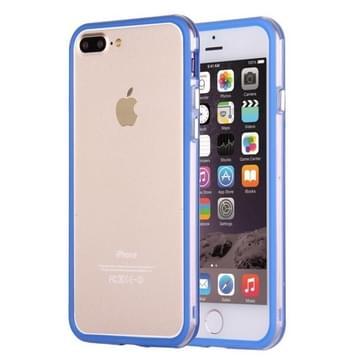 iPhone 7 Plus & 8 Plus TPU + Kunststof bumper frame Hoesje (donker blauw)