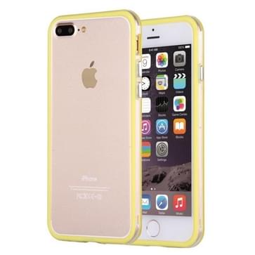 iPhone 7 Plus & 8 Plus TPU + Kunststof bumper frame Hoesje (geel)