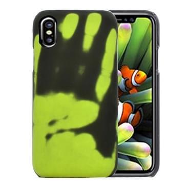 iPhone 8 uniek warmtesensor verkleurend design beschermend back cover Hoesje (groen)
