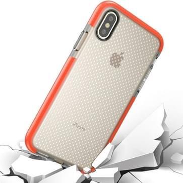 iPhone 8 schokbestendig Basketbal structuur beschermend TPU back cover Hoesje (Oranje)