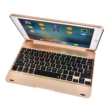 Voor iPad Pro 9 7 inch / iPAD Air 2 horizontale Flip Case + Bluetooth Keyboard(Gold)