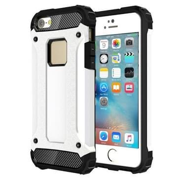 Harde Armor TPU + PC combinatie Case voor iPhone SE & 5 & 5s(White)
