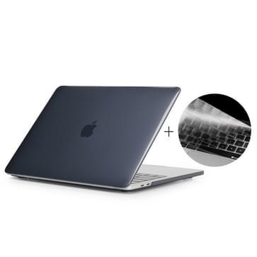 MacBook Pro 15.4 inch met Touchbar (A1707 - US versie) 2 in 1 Kristal patroon beschermende Hardshell ENKAY Hat-Prince behuizing met ultra-dun TPU toetsenbord Cover (zwart)