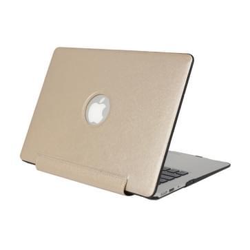 MacBook Pro Retina 15.4 inch Zijde structuur beschermende Cover (goudkleurig)